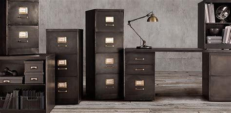 restoration hardware filing cabinet 1940s industrial modular collection rh