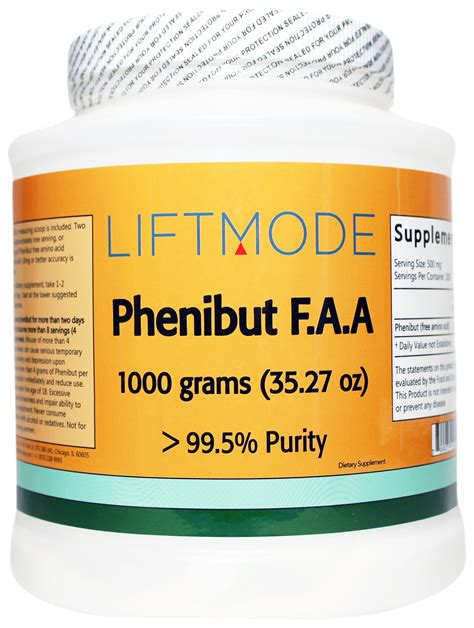 Phenibut Also Search For Phenibut F A A Free Amino Acid 99 8