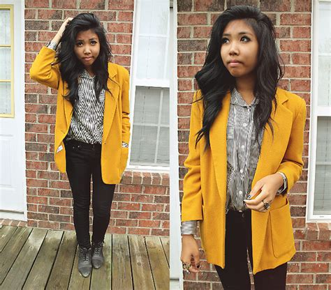 mustard color blazer sharena c thrift store mustard blazer thrift store