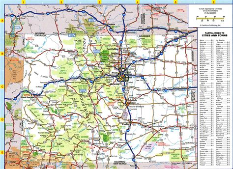 colorado map with cities large detailed roads and highways map of colorado state