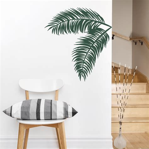 palm tree wall stickers palm leaves wall decal tropical wall palm tree decal