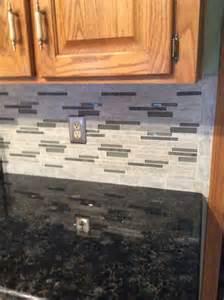 kitchen counter backsplash backsplash floriana heather from lowes volga blue