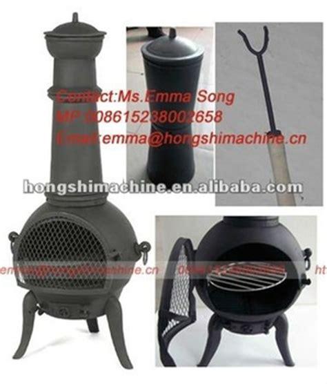 cast iron wood burning stove chiminea outdoor garden
