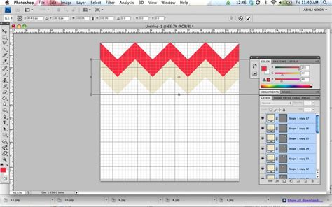 make your own pattern in photoshop tutorial how to make your own custom chevron pattern in