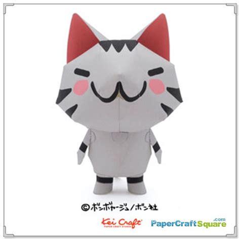 Cat Papercraft - bonboya zyu papercraft chibi cat