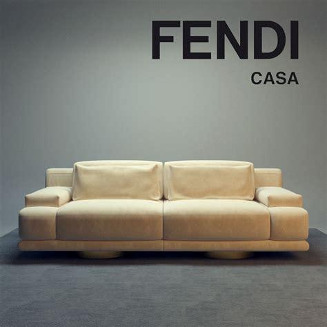 fendi casa sofa fendi casa artu sofa 3d model max fbx cgtrader com
