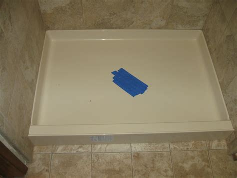 new shower pan marysville ronald t curtis plumbing