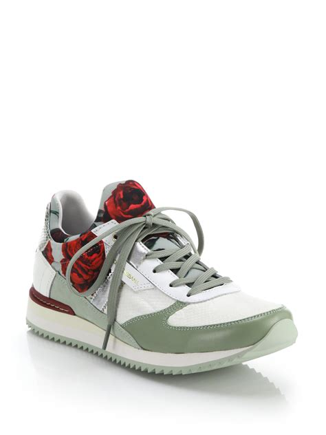 dolce gabana sneakers dolce gabbana leather trimmed print sneakers in