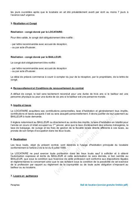Modele Lettre Preavis Location  Modele Lettre Preavis Logement