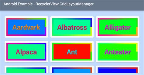 grid layout 1 xml android recyclerview grid layout exle