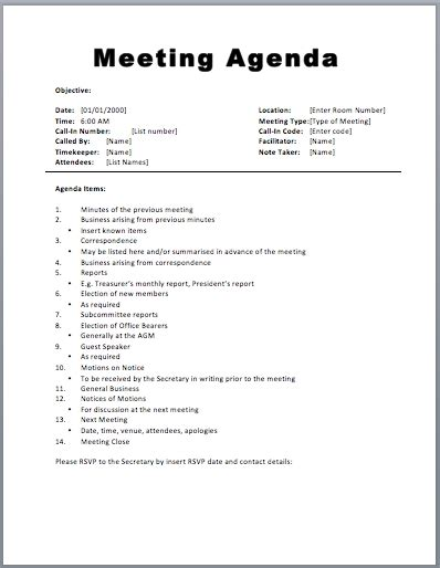 meeting agenda template word peerpex