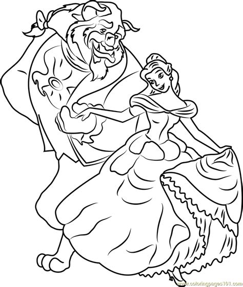 belle and beast coloring page free beauty and the beast