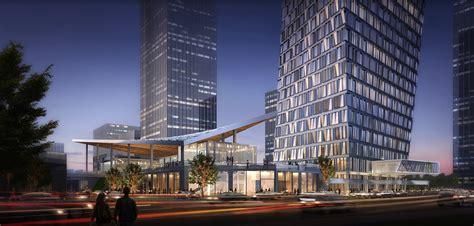 Luxury Car Garage Design xuhui binjian media city 188s g 1 tower and podium winning