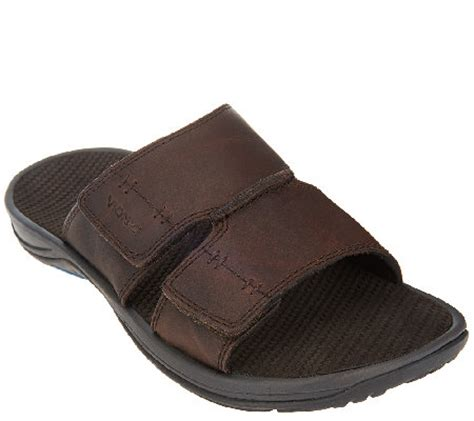 orthotic sandals mens vionic with orthaheel s orthotic leather slide sandals