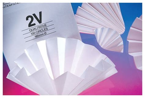 Folding Filter Paper - whatman grade 114v folded qualitative filter papers