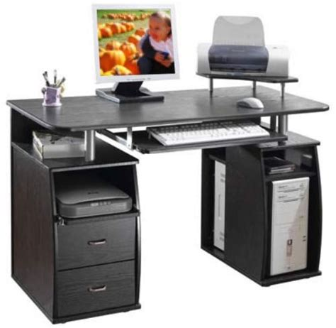 computer desk with printer shelf techni mobili rta 8211 wood computer desk espresso features a pull out keyboard shelf with