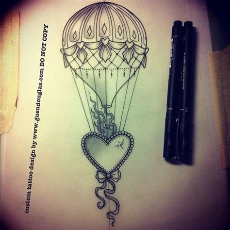 hot air balloon tattoo designs beaded and a air balloon tattoos
