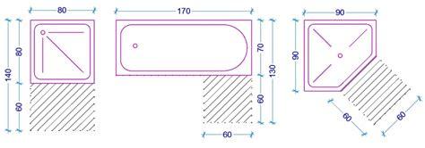 dimensioni minime doccia le misure dell uomo nell abitazione il bagno web architetto