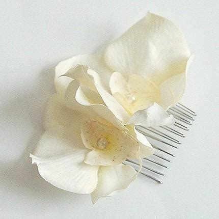 Wedding Hair With Orchids by Wedding Ivory Orchid Flower Hair Comb Bridal Hair