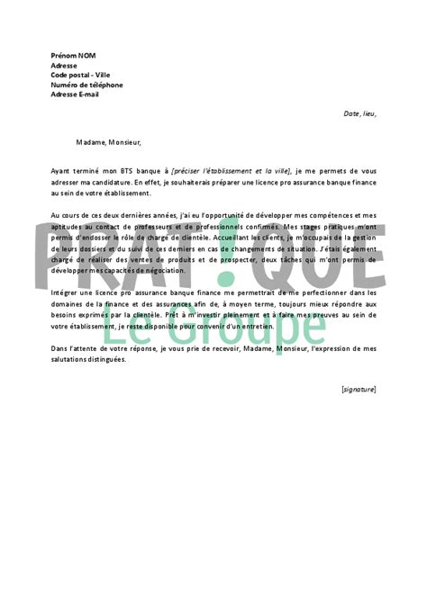 Exemple De Lettre Banque Lettre De Motivation Banque Le Dif En Questions