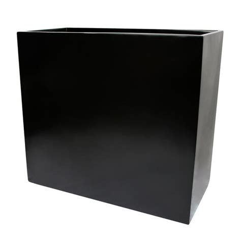 Calistoga Tall Rectangle Planter Box Black Root And Stock Black Rectangular Planter