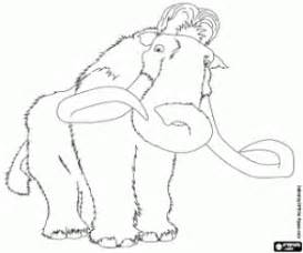 Manny The Mammoth In Ice Age 4 Coloring Page sketch template