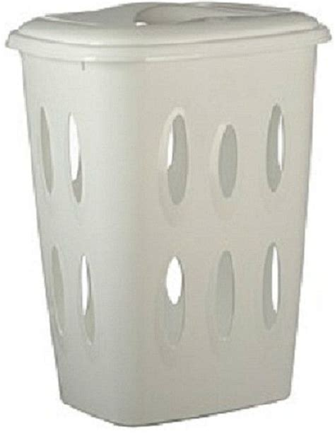 Large Plastic Laundry Washing Basket Bin With Lid 45 L Plastic Laundry With Lid