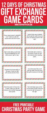 12 days of total gifts 12 days of and gift exchange