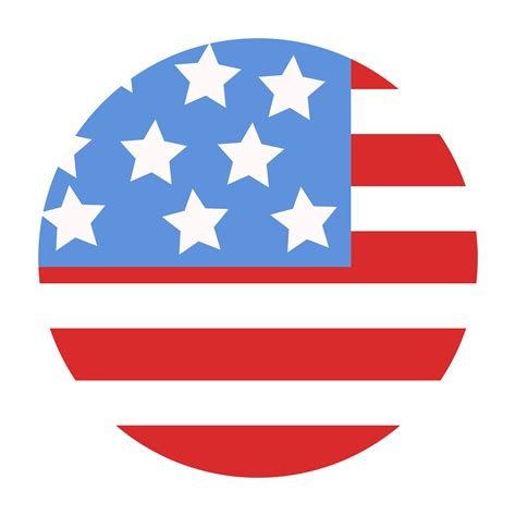 Single Story Cape Cod by All American Modular 75 Usa Flag Design In Circle Vector