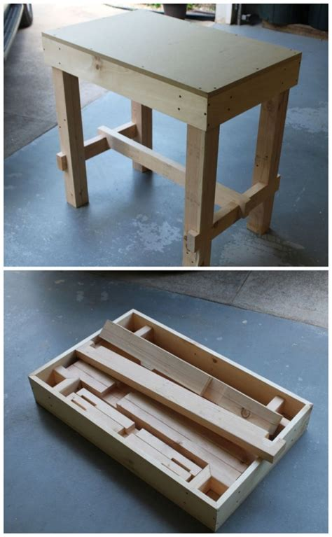 portable woodworking bench plans collapsible workbench woodworking workshop portable