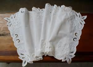 vintage linen dresser scarf table runner by