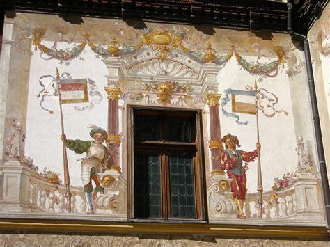 Mansion Interior sinaia romania peles castle wall painting design