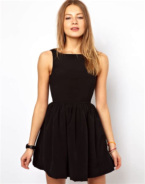 Dress For Withamerican Apparel by American Apparel Button Back Swing Dress In Black Lyst