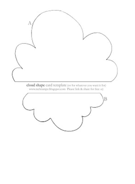 free clouds template for card printable cloud template images frompo