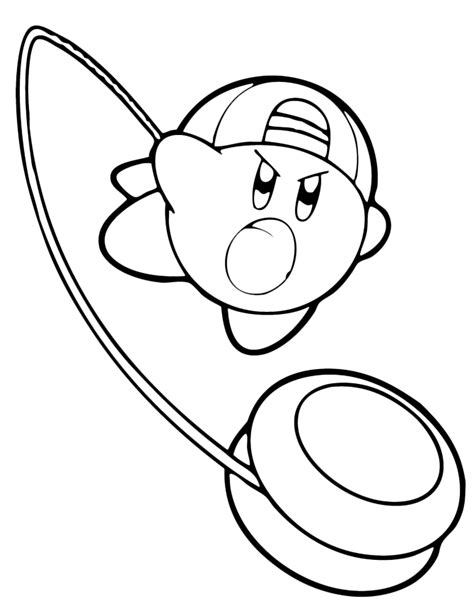 nintendo kirby coloring pages to print kirby right back at ya kirby throws the yo yo