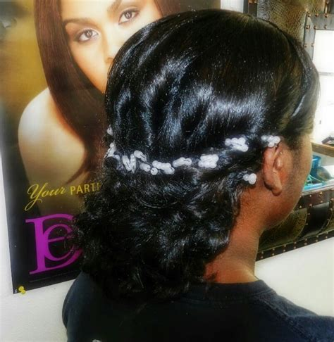 Weave Updo Hairstyles by Curly Weave Wedding Updo Relaxer Healthy Hairstyles