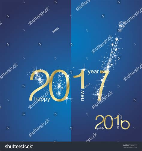 new year 2016 end new year 2017 end 2016 gold stock vector 514632739