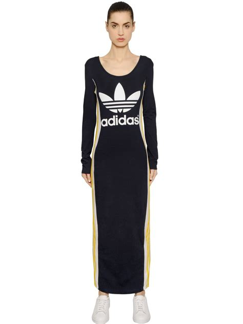 Adidas Maxi Dress adidas originals cosmic confession cotton jersey dress in
