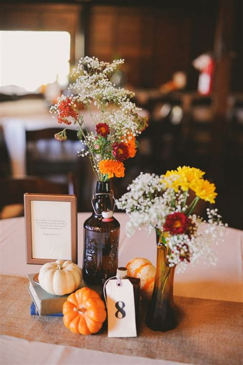 fall themed centerpieces for weddings fall wedding centerpieces 1 fab mood wedding colours