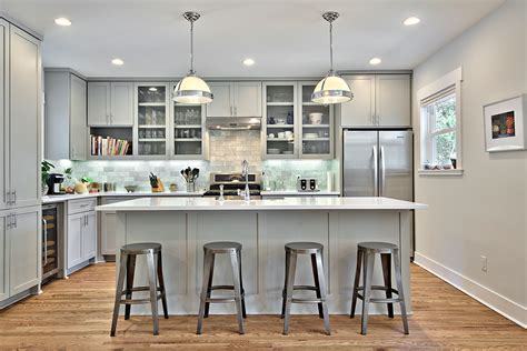 Build A Kitchen Cabinet by 12 Gorgeous And Bright Light Gray Kitchens Table And Hearth
