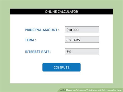Figuring Out Financing by How To Calculate Total Interest Paid On A Car Loan 15 Steps