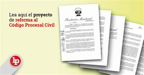 codigo de trabajo reformado 2016 download pdf codigo procesal civil 2016 lea aqu 237 el proyecto de