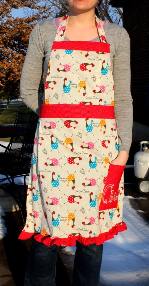 tutorial html full full apron with ruffle trim