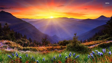 image  mountain sunrise  wallpaper favorite