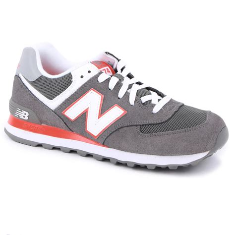 New Balance 574 Grey new balance 574 mens trainers in grey orange