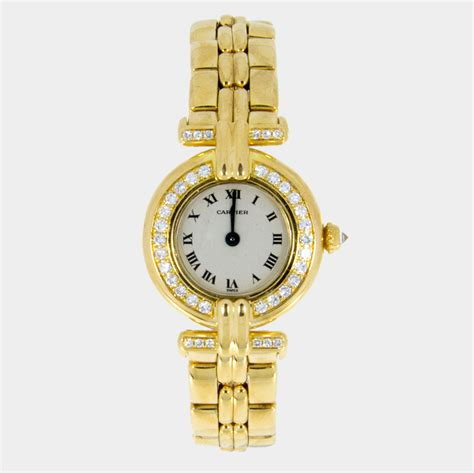 cartier womens yellow gold colisee sout bay
