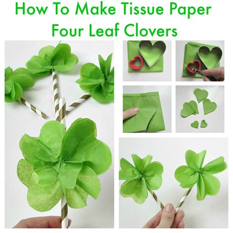 How Do They Make Paper - tissue paper four leaf clovers