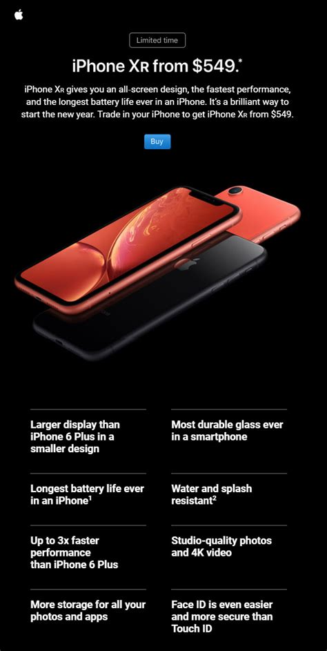 apple targeting users of iphones with iphone xr email caign macrumors