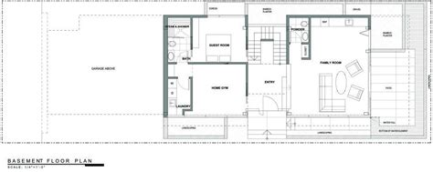 basement floor plan exceptional glass wood home in los