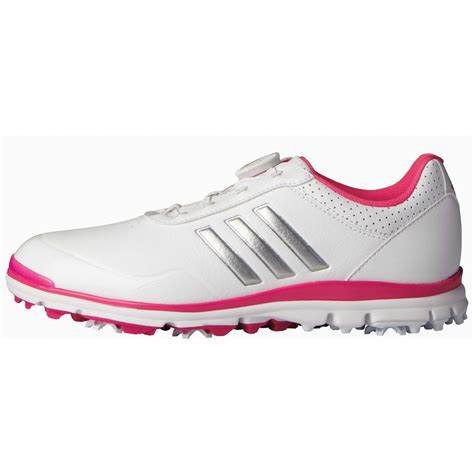 adidas womens adistar lite boa golf shoes white shock pink carl s golfland